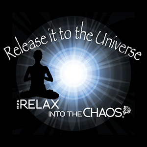 release it to the universe - black shirt
